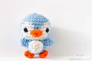 mini penguin by tinyowlknits