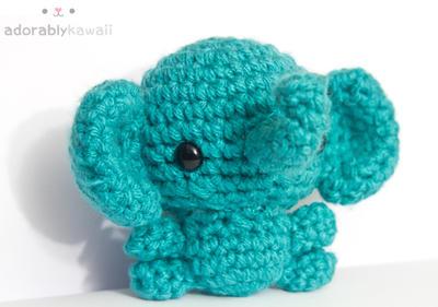Blue Elephant by tinyowlknits