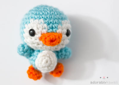 blue penguin by tinyowlknits
