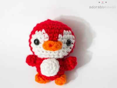 red penguin 2 by tinyowlknits