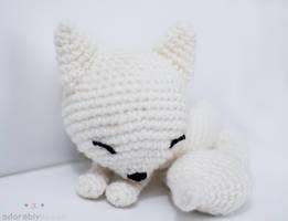sleepy white fox 2