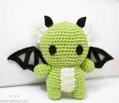 Green Dragon Amigurumi by tinyowlknits