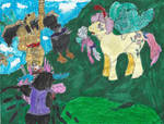Ponies vs Goldar and Tengas