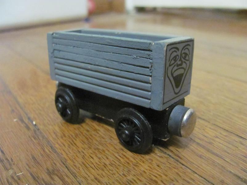 Wooden Railway Gray Troublesome Truck Repaired By Zeldatheswordsman