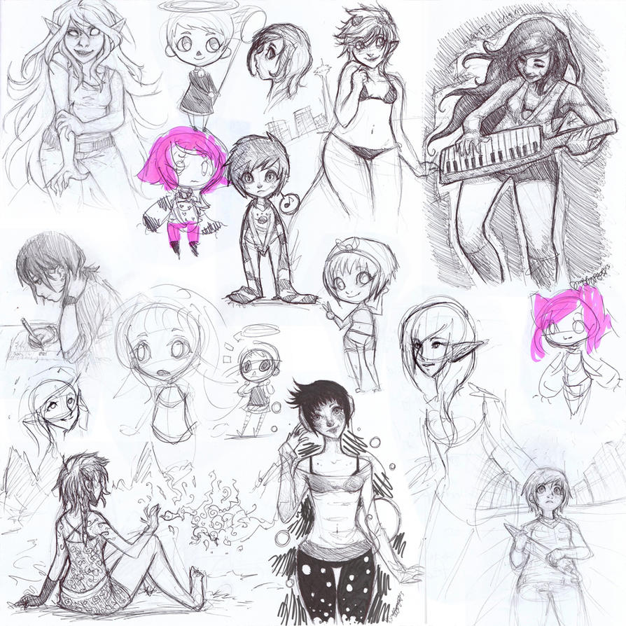 A mini sketchdump for you all! by maffy-pop