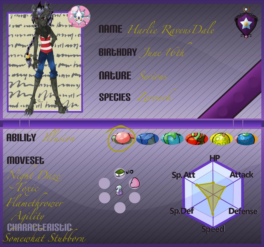 PkmnArmonia App: Harlie RavensDale 2.0 by LuckyRyo