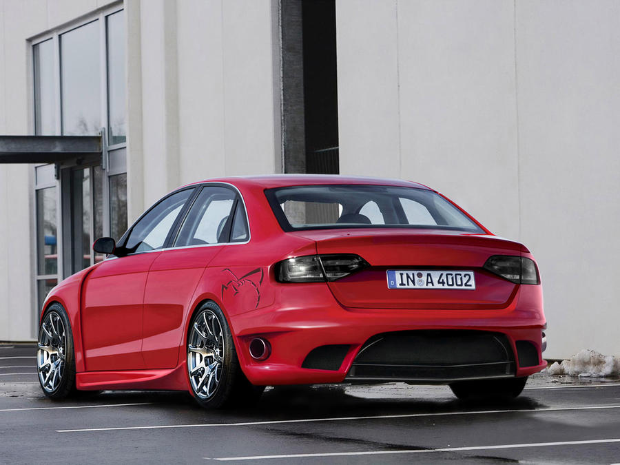 audi a4 red by backo-designs on DeviantArt