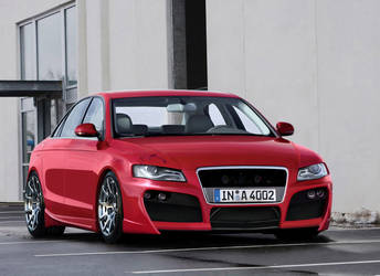 audi a4 red front by backo-designs