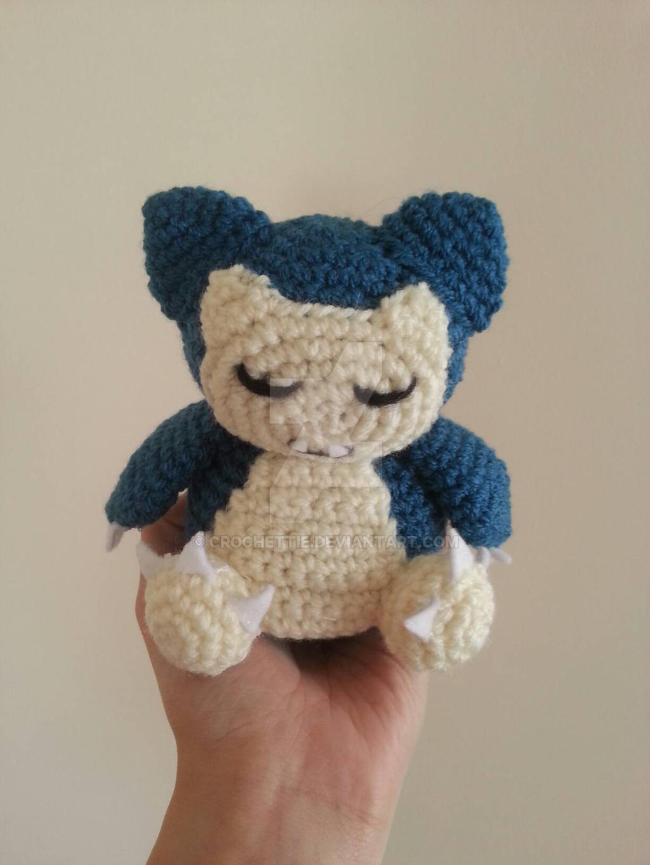 Amigurumi Pokemon Snorlax : Hand-made amigurumi: Snorlax by Crochettie on DeviantArt