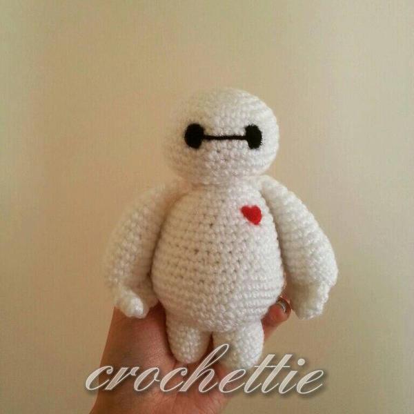 Crochet Amigurumi Baymax Pattern : Hand-made amigurumi - Baymax by Crochettie on DeviantArt