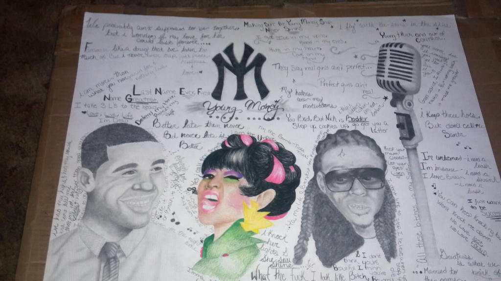 Young Money Drawing by Brittany093Young Money Drawings