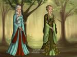Female Cousins by Nelyasun