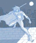Robin // in blue
