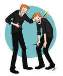 Laughing Weasley Twins
