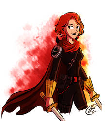 Black Widow Warrior by xxiiCoko
