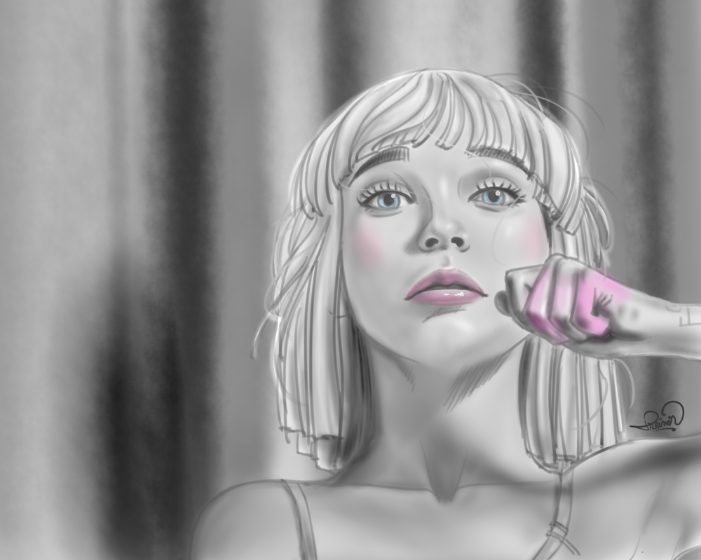 Maddie from the Chandelier video by TREINOR