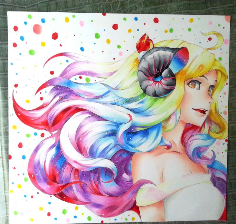 Swirling Rainbow by saito602