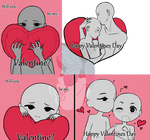 { YCH : CLOSED } #5 : Valentines