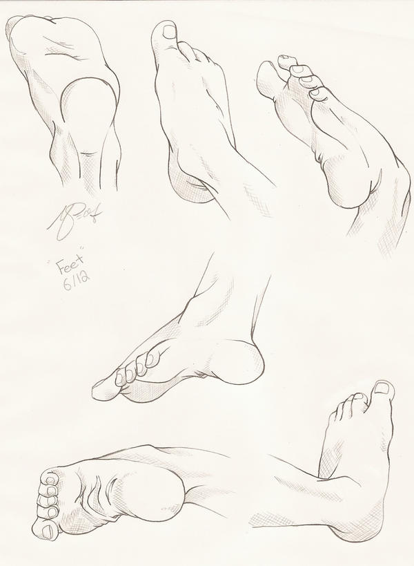 Feet Study by PinkPigtails