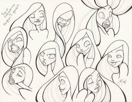 10 Facial Expressions : Clean