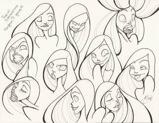 10 Facial Expressions : Clean by PinkPigtails