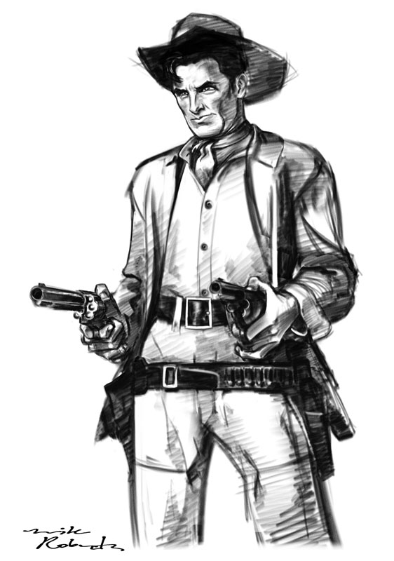 Cowboy sketch drawings - photo#3