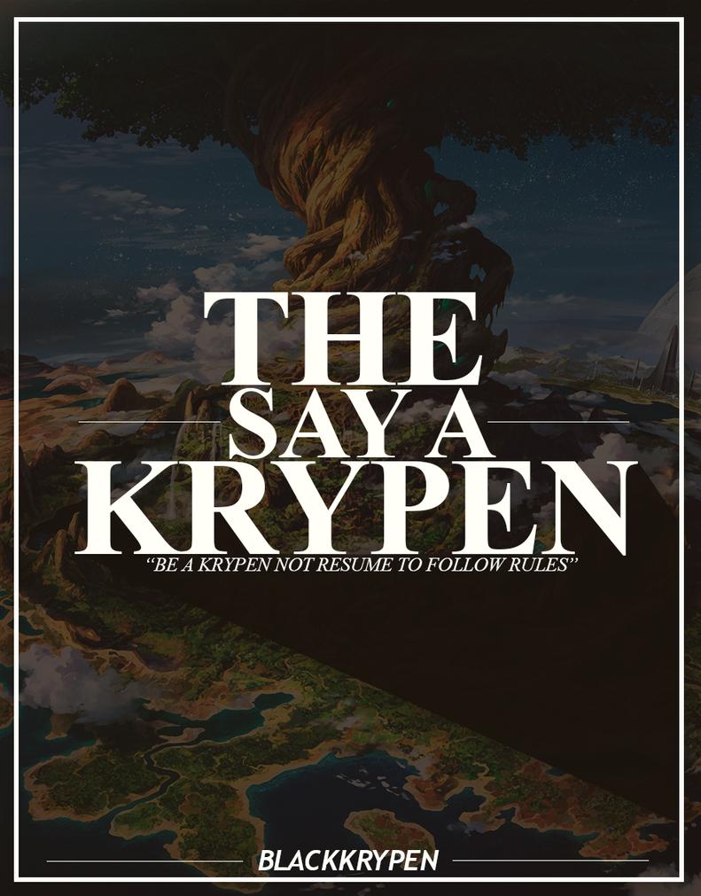 BlackKrypen - The Say a Krypen [2k16] [DJournal] by BlackKrypen