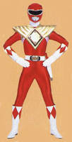 Mighty Morphin Red Ranger I With Dragon Shield