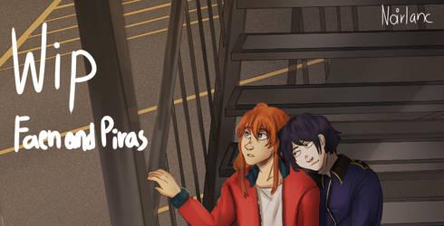 Work in progress - Illustration of Faen and Piras