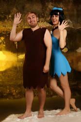 Flintstones. Betty and Barney