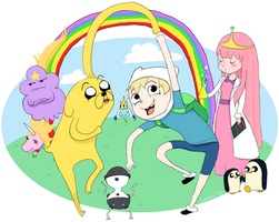IT'S ADVENTURETIME by Lemon-Paper