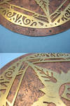 Detail shots of Gehn's crest