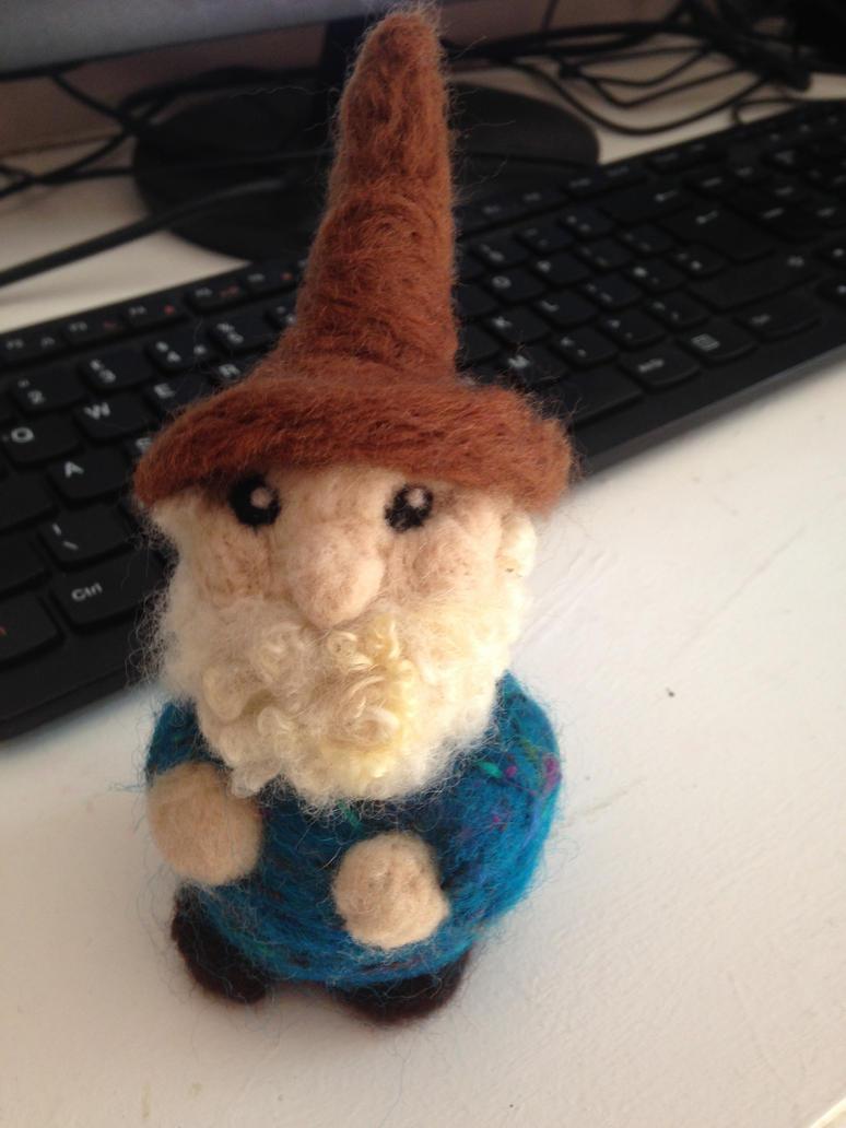 Needle Felted Gnome by Semeiya