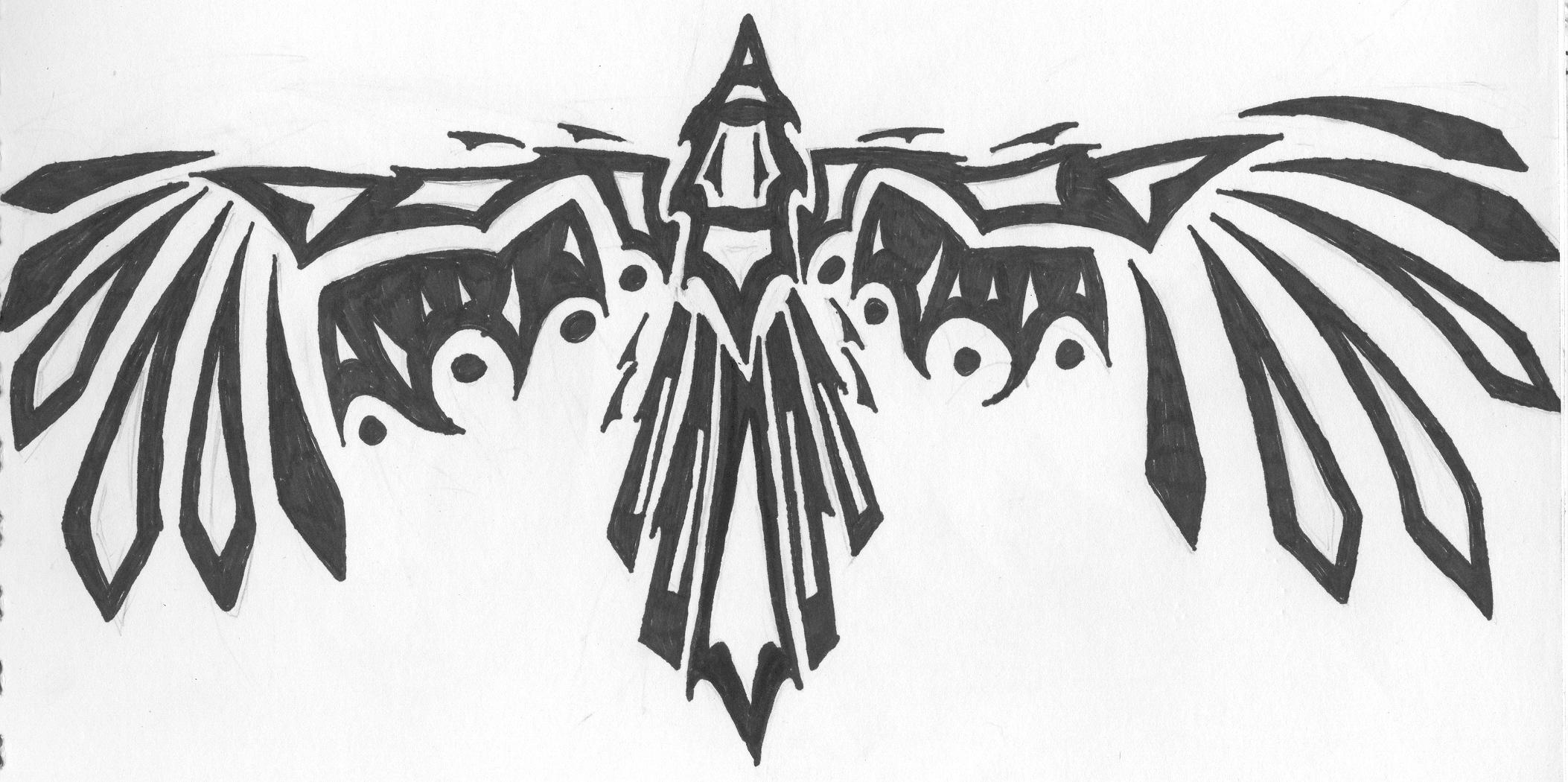 Native american tribal eagle for Tribal eagle tattoos