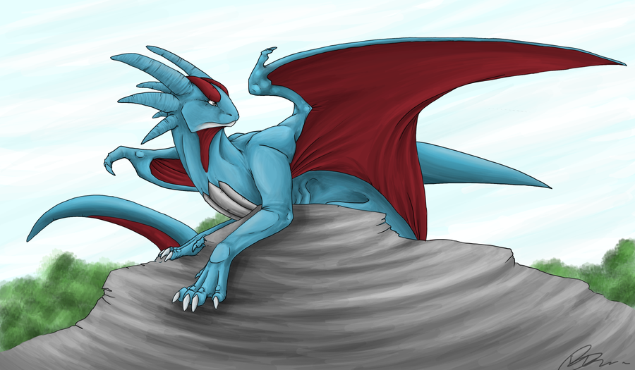 Salamence by Kipachie on DeviantArt