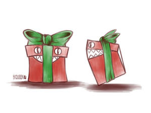 Inktober day 28: Gift