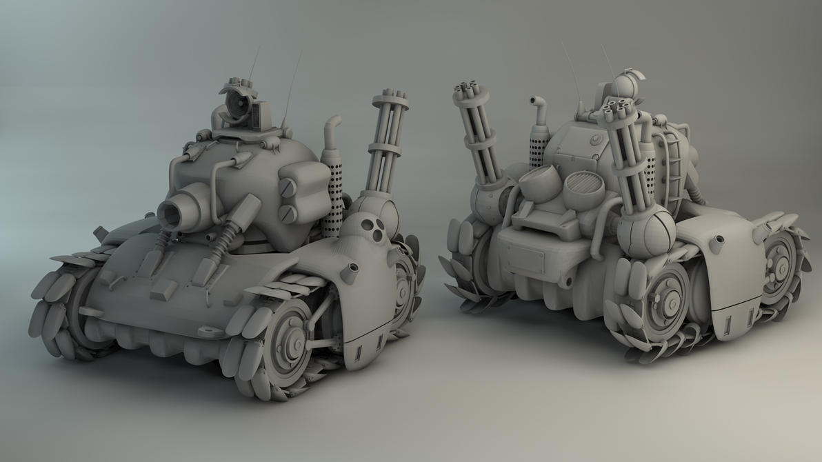 Metal Slug Tank Re-render by Char0w on DeviantArt