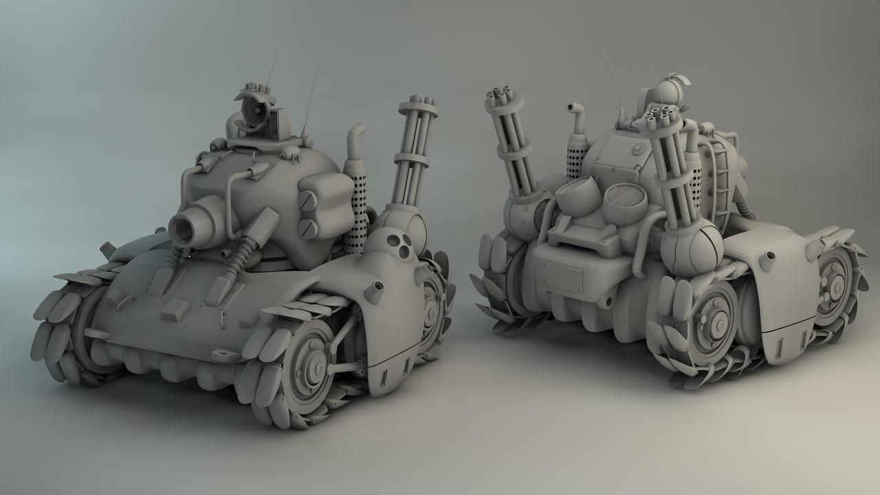 Metal Slug Tank Re-render by Char0w