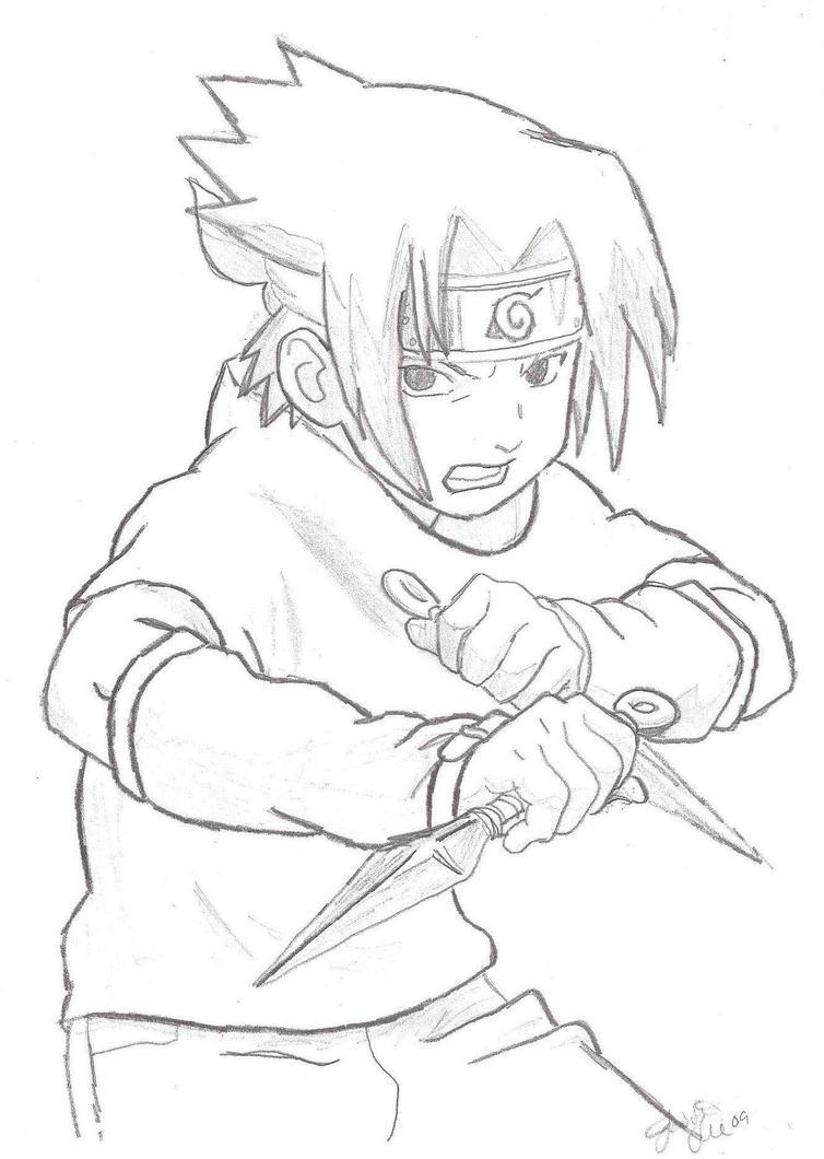 sasuke uchiha coloring pages - photo#28