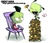 invader zim by SakikoAmana
