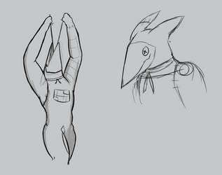 Sketches of Dirulem Redesign by SlimeCloudBeta