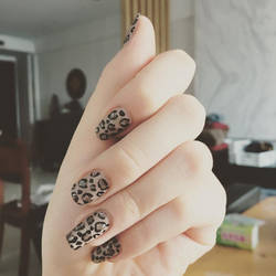 Leopard Print Nails by LuvurShit