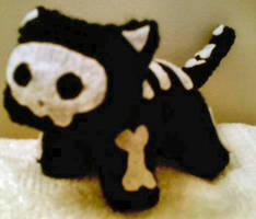 Knitted Skele-Kitty