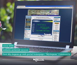MYAEGEAN 2004 website (preserved screenshot) by MyAegean