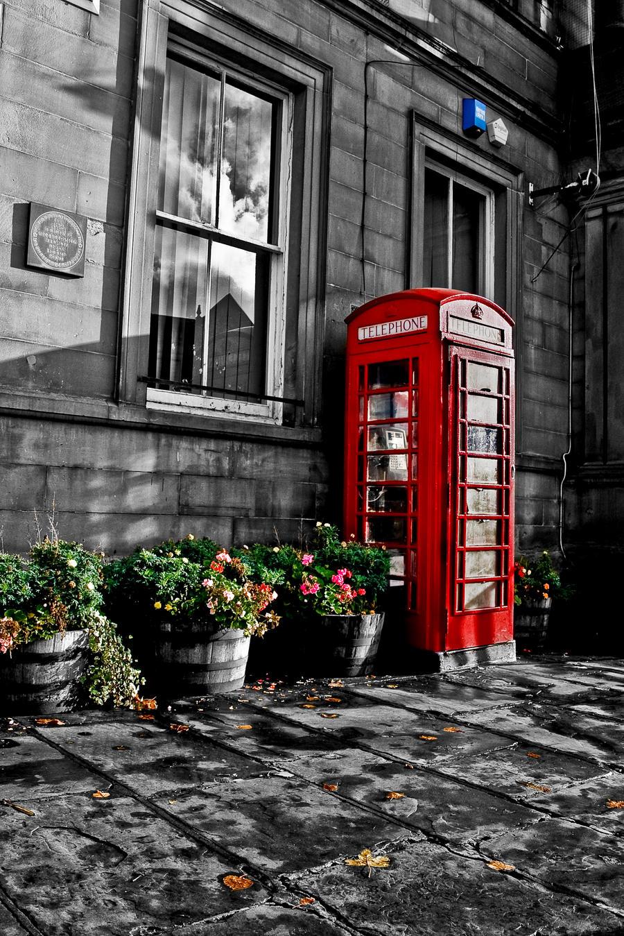 Little Red Phone Box By Tafkag On Deviantart