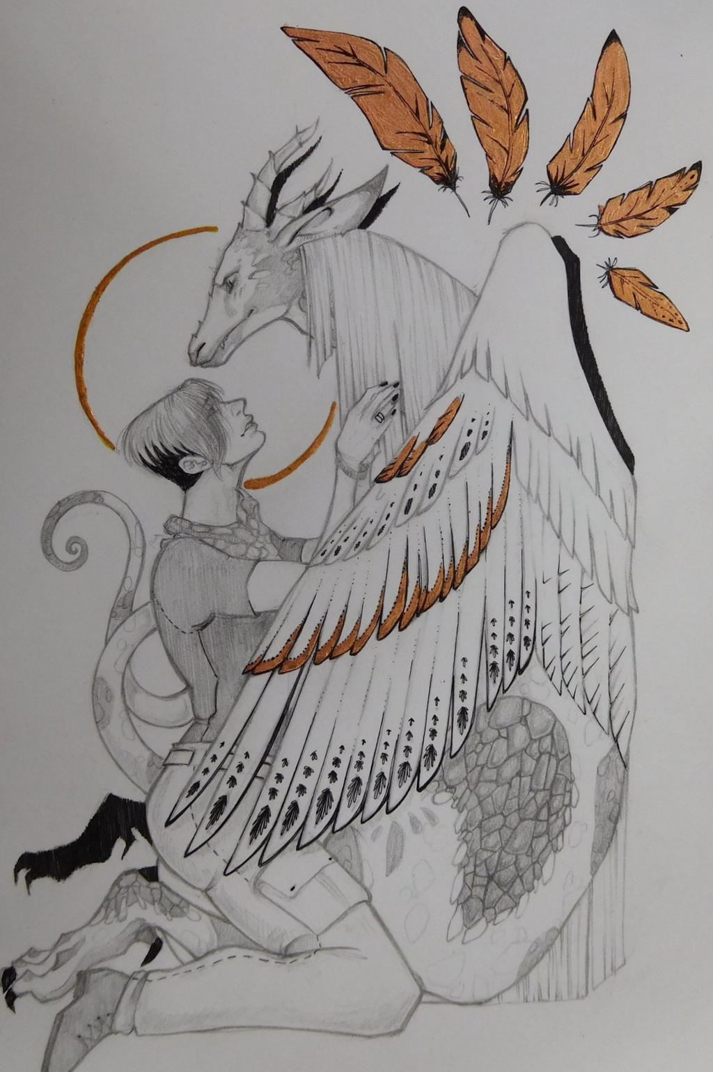 The Gold feather of dragon by Uncle-Leik