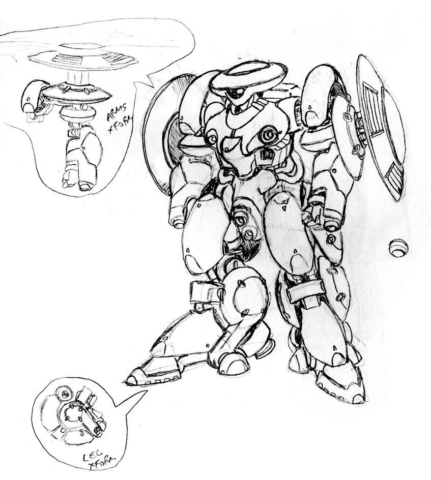 Zeon variable Mobile Suit by Grebo-Guru