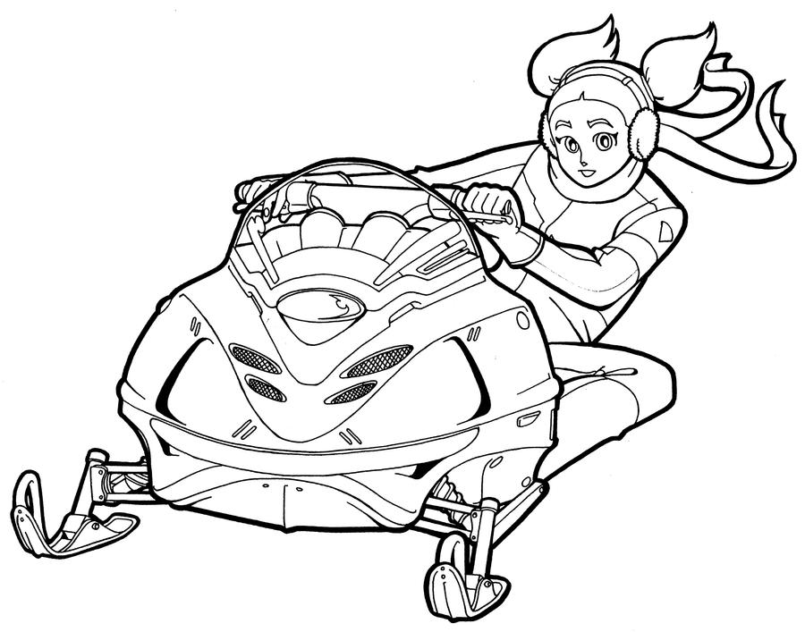 snowmobile coloring pages - photo#21