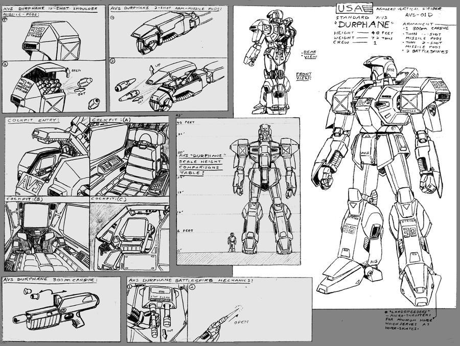 AVS-01D Durphane details by Grebo-Guru