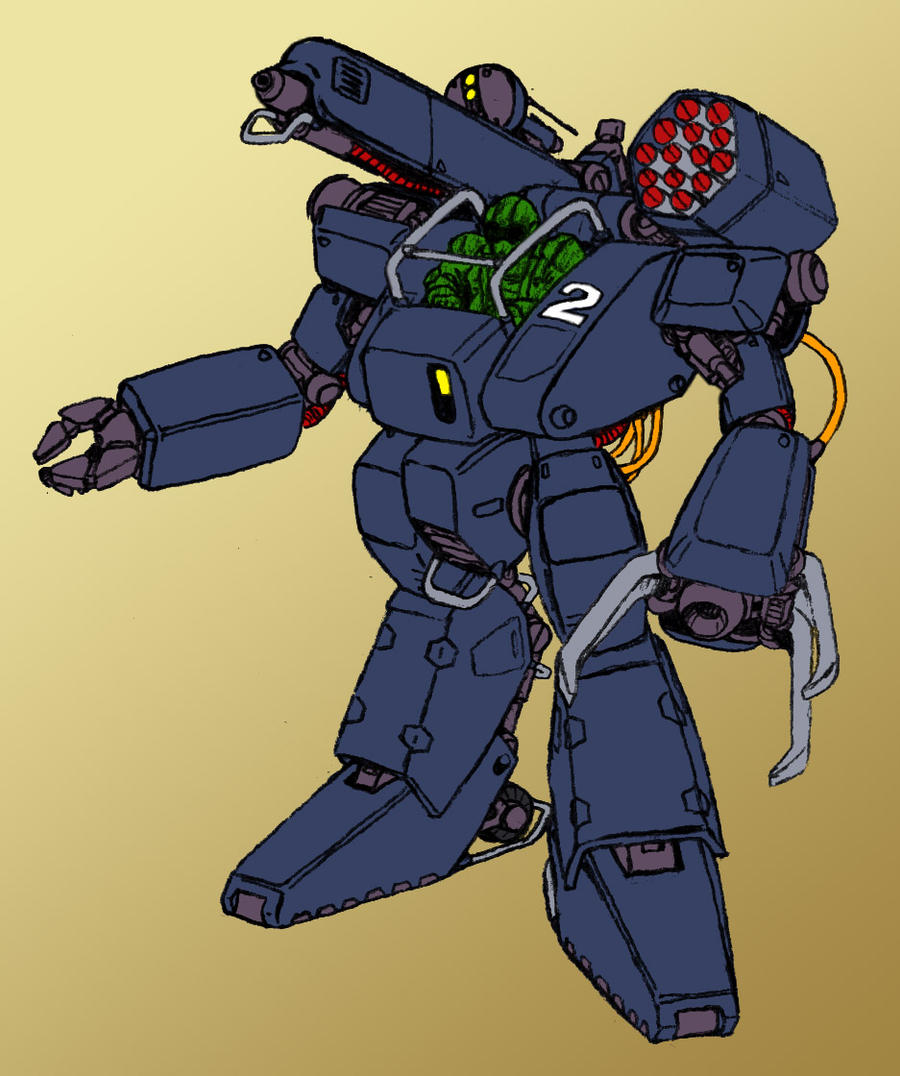 Battlefield expedient mecha unit by Grebo-Guru